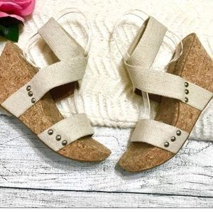 Brand New Lucky Brand Marinah Cork Sandals- 8.5